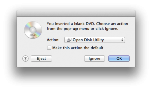 Yes, I had a blank DVD lying around.